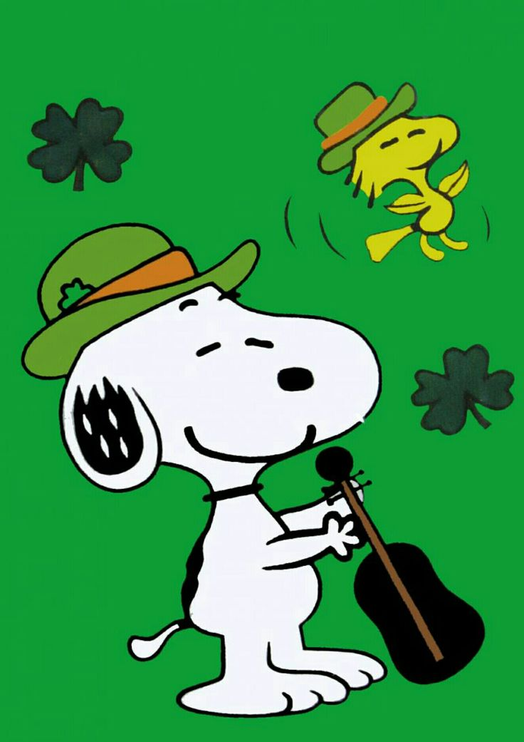 Snoopy patricks day.