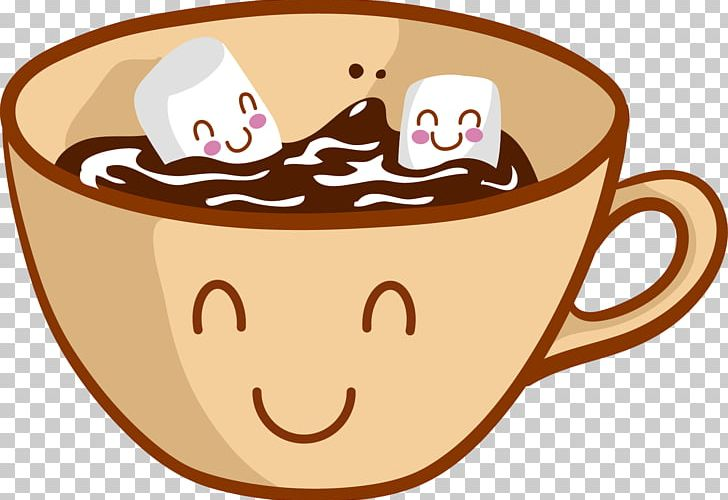 Hot Chocolate Chocolate Chip Cookie Cartoon Marshmallow PNG