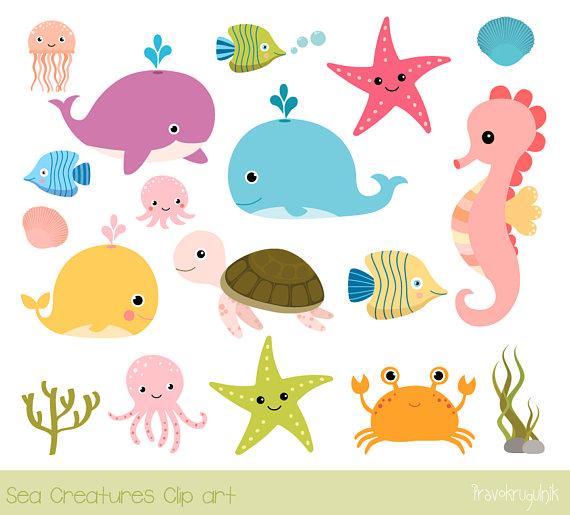 Sea animal clip.