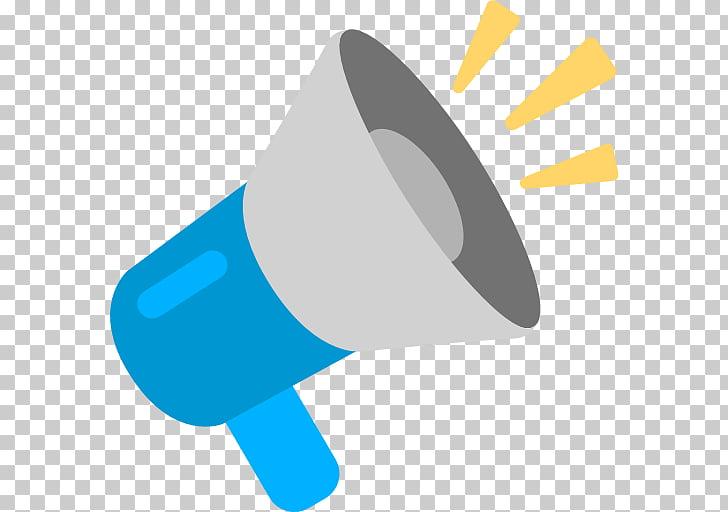 Emoji megaphone loudspeaker.