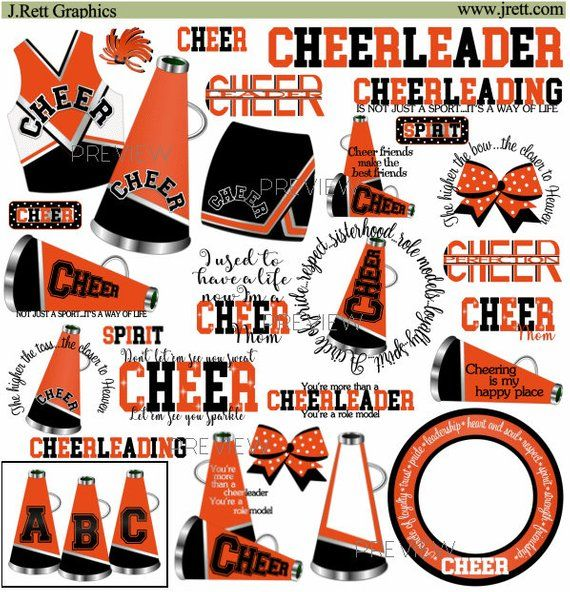 Orange cheerleader clip.