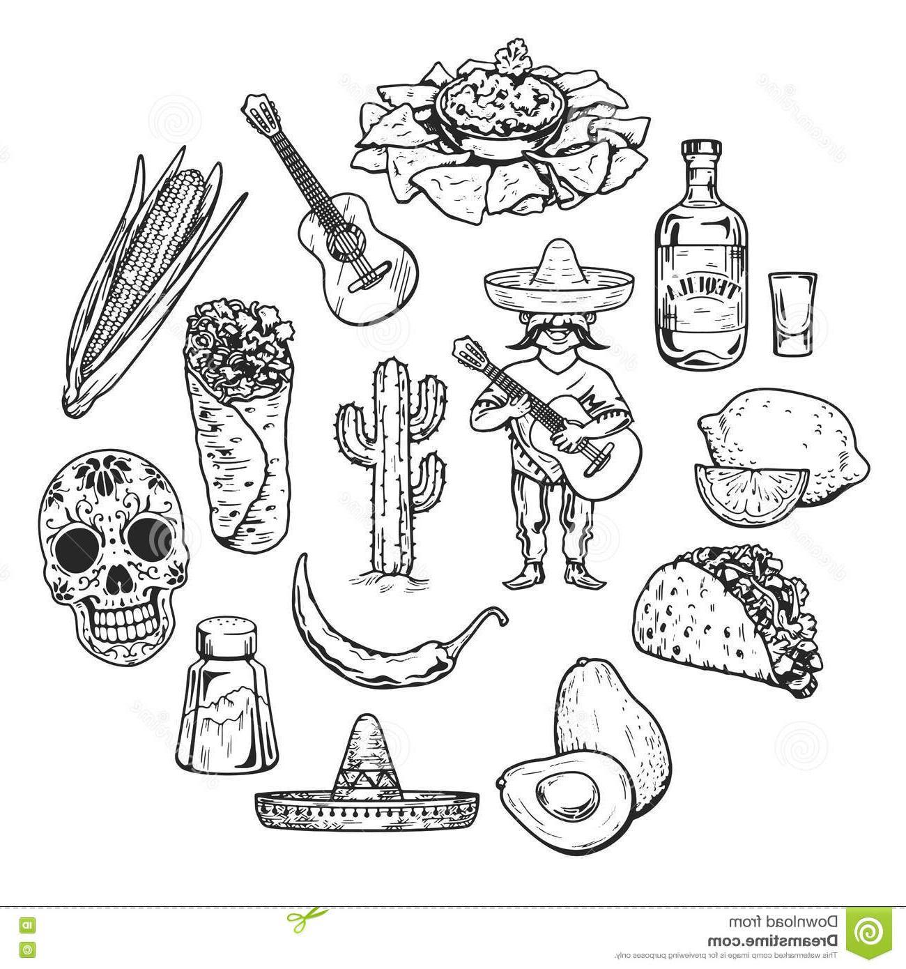 mexican food clipart -taco black