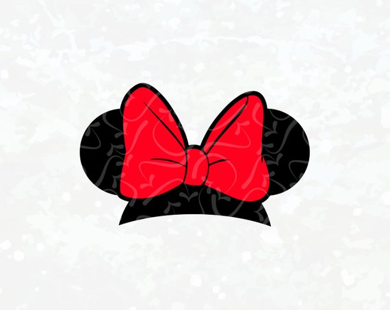 Minnie mouse bow.
