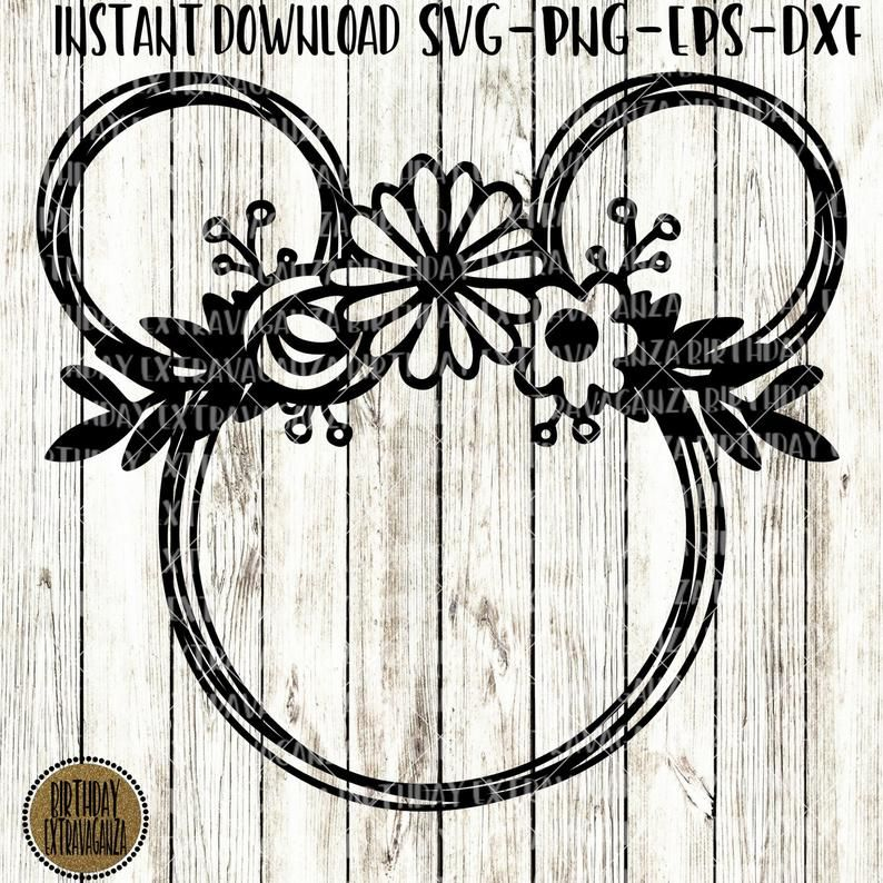 Flower mickey svg.