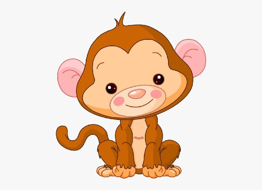 Cute Baby Monkey Clipart