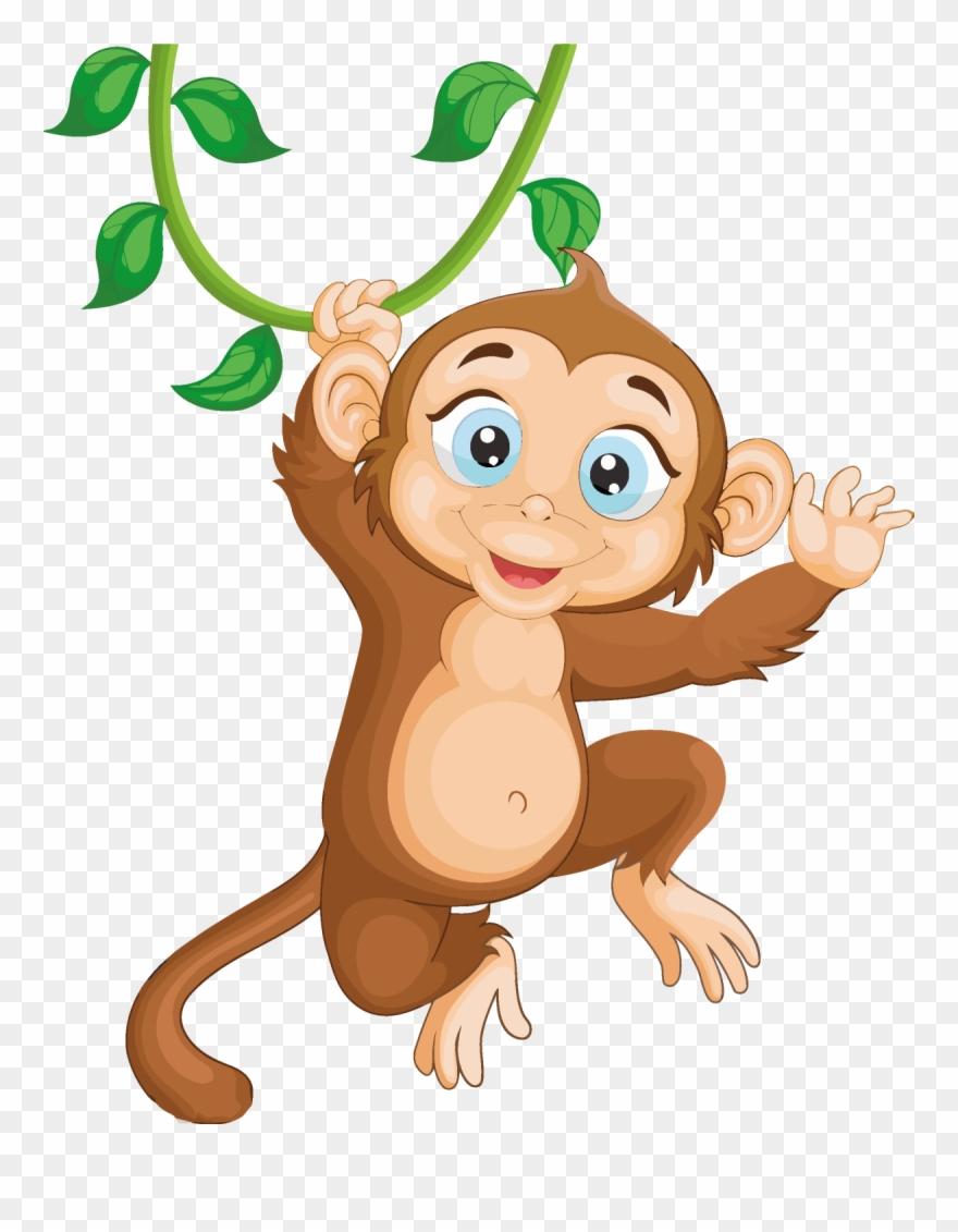 cartoon monkey clipart cheeky