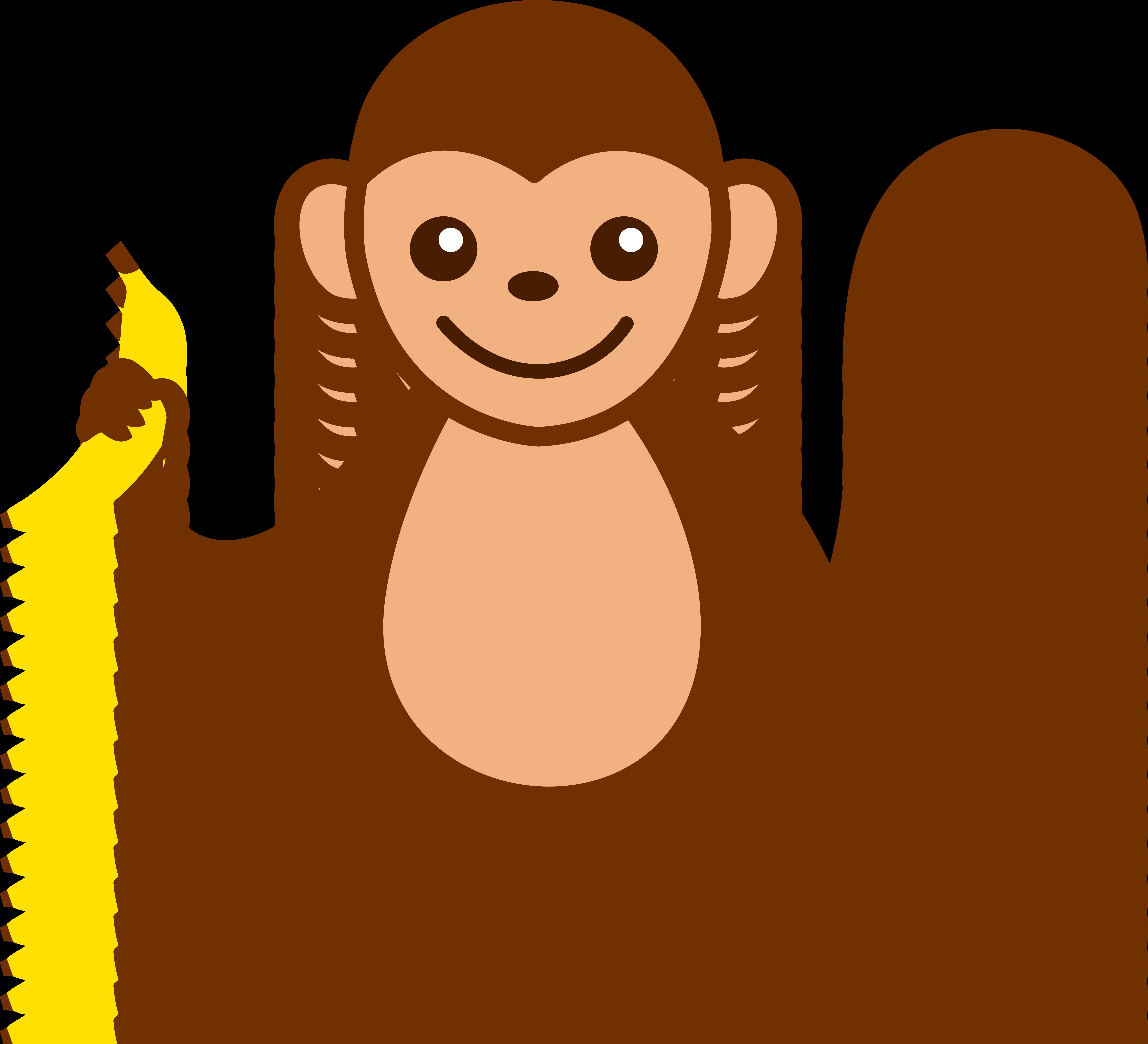 cartoon monkey clipart simple