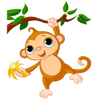 Free cartoon monkey.
