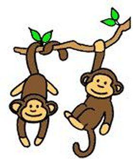 cartoon monkey clipart easy
