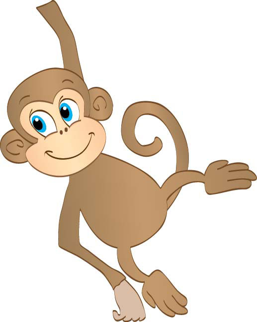 Free hanging monkey.