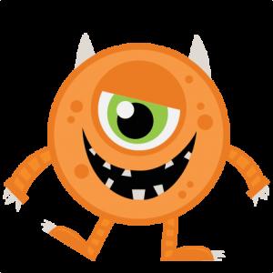 monster clipart orange