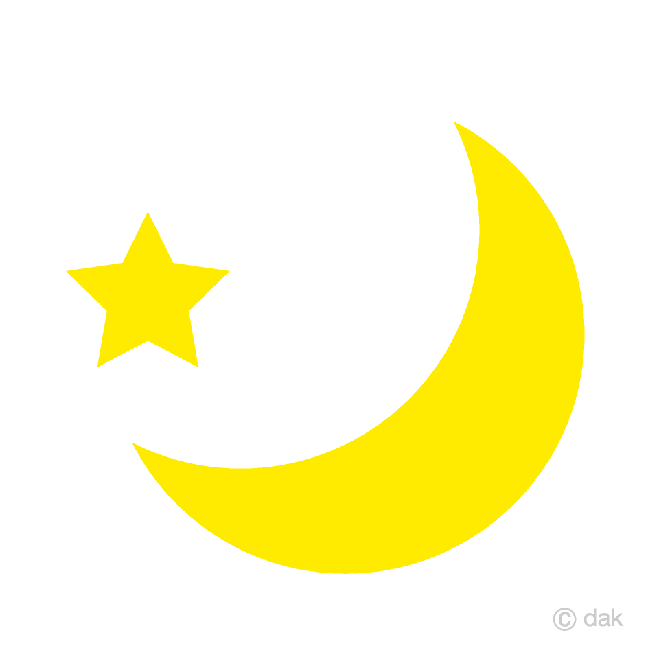 moon clipart free colorful