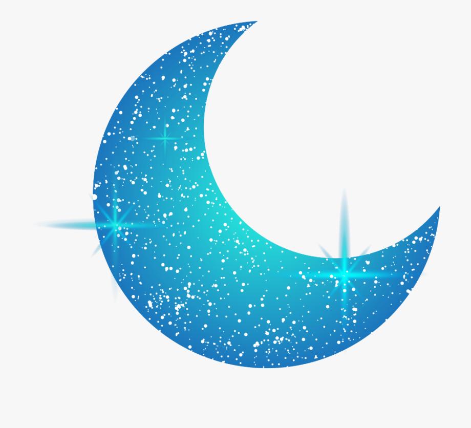 Crescent Moon Clipart Blue