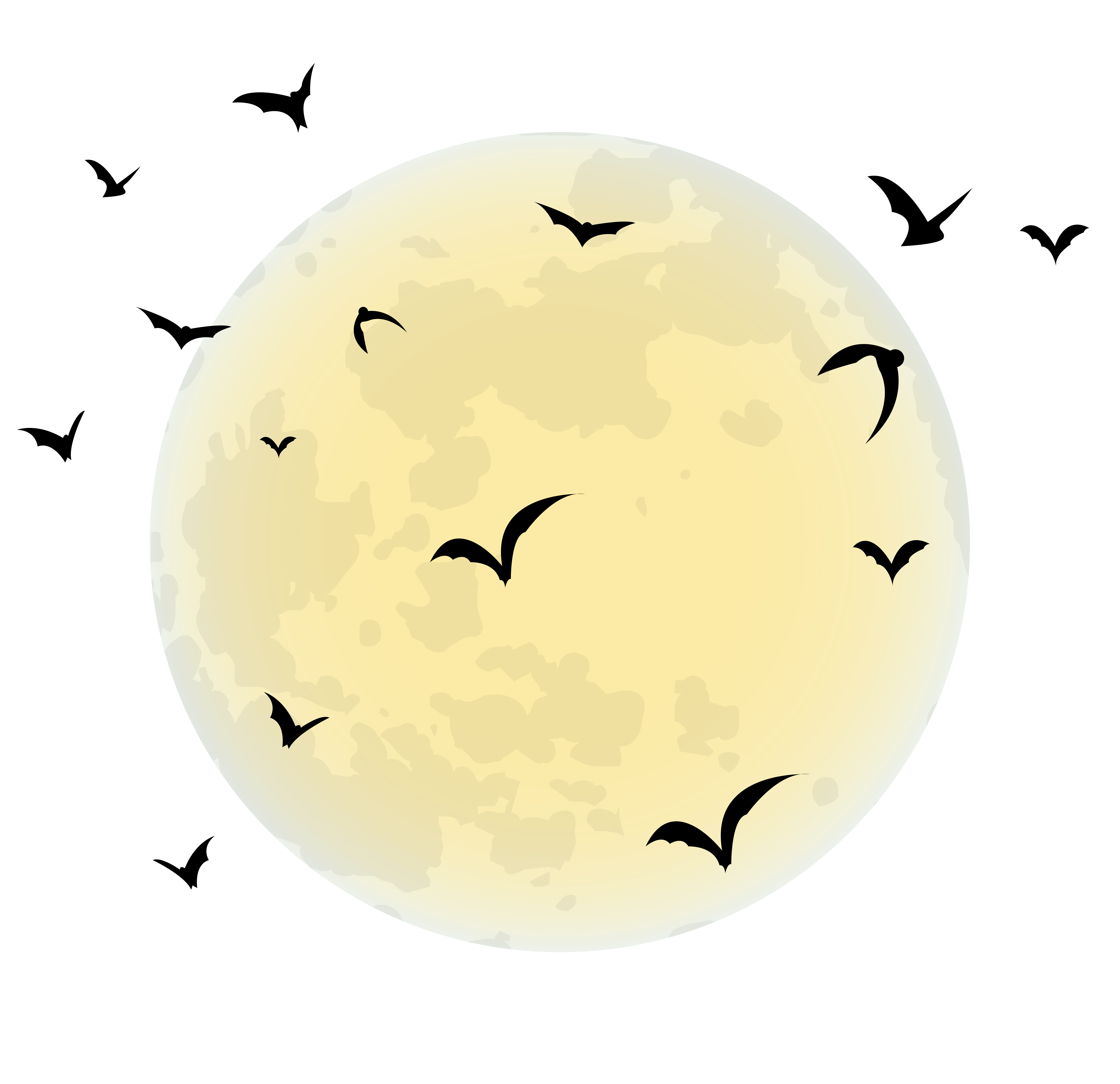 Halloween moon png.