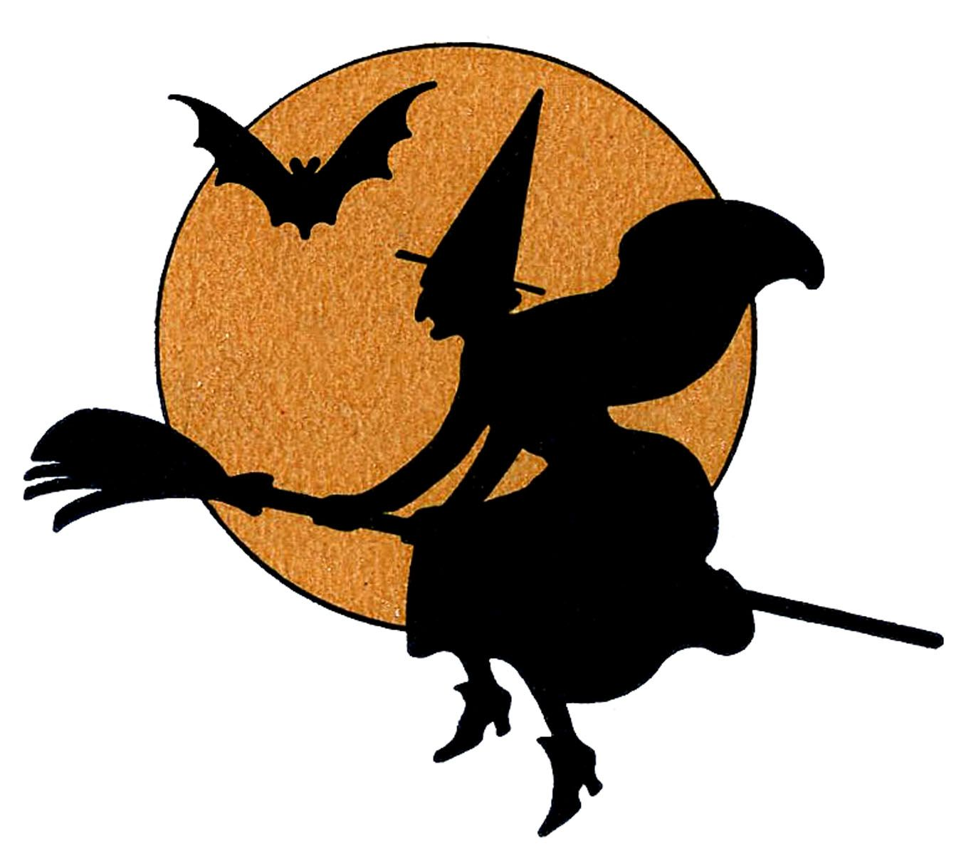 Halloween witches clipart.