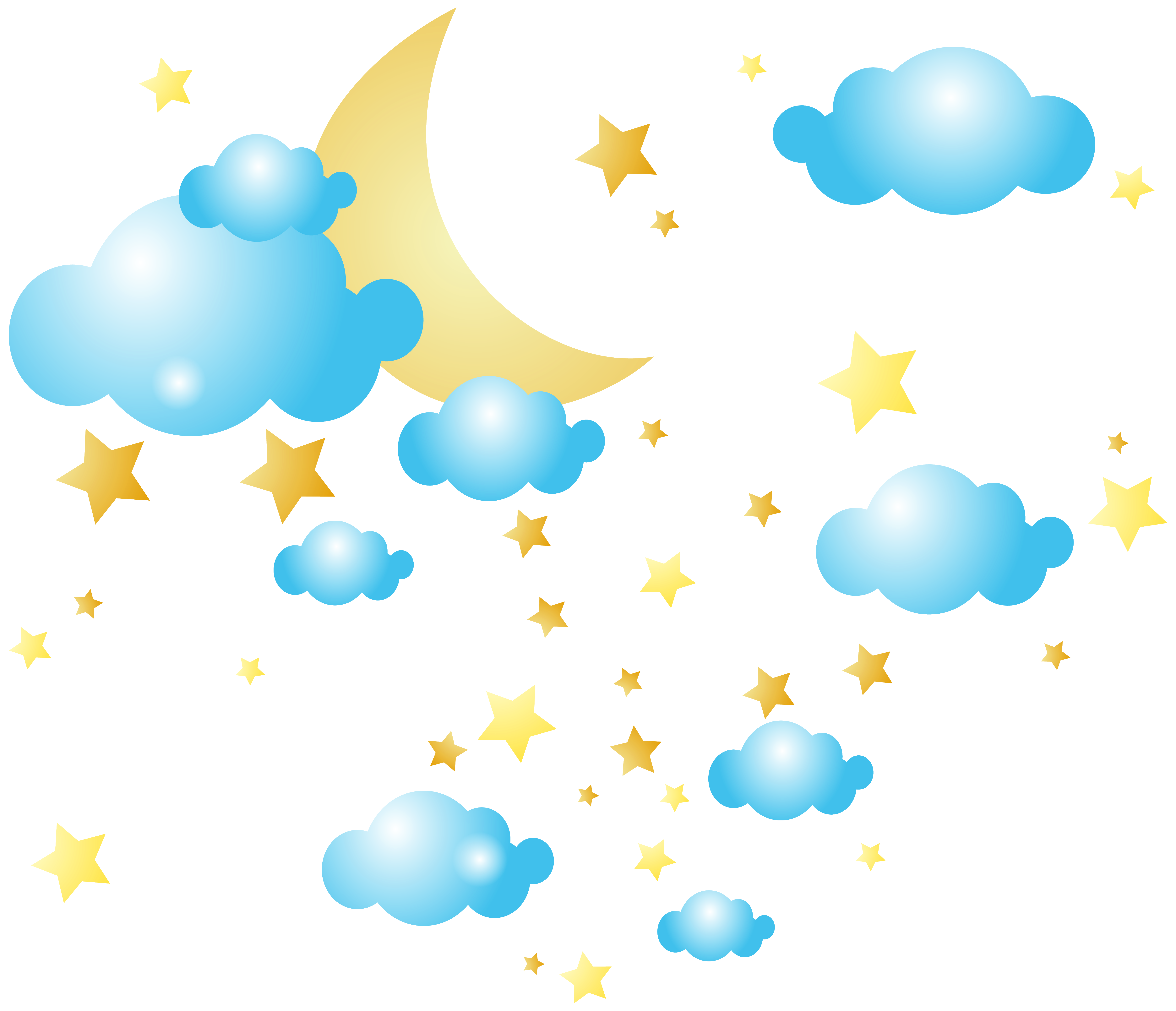Clipart moon night.