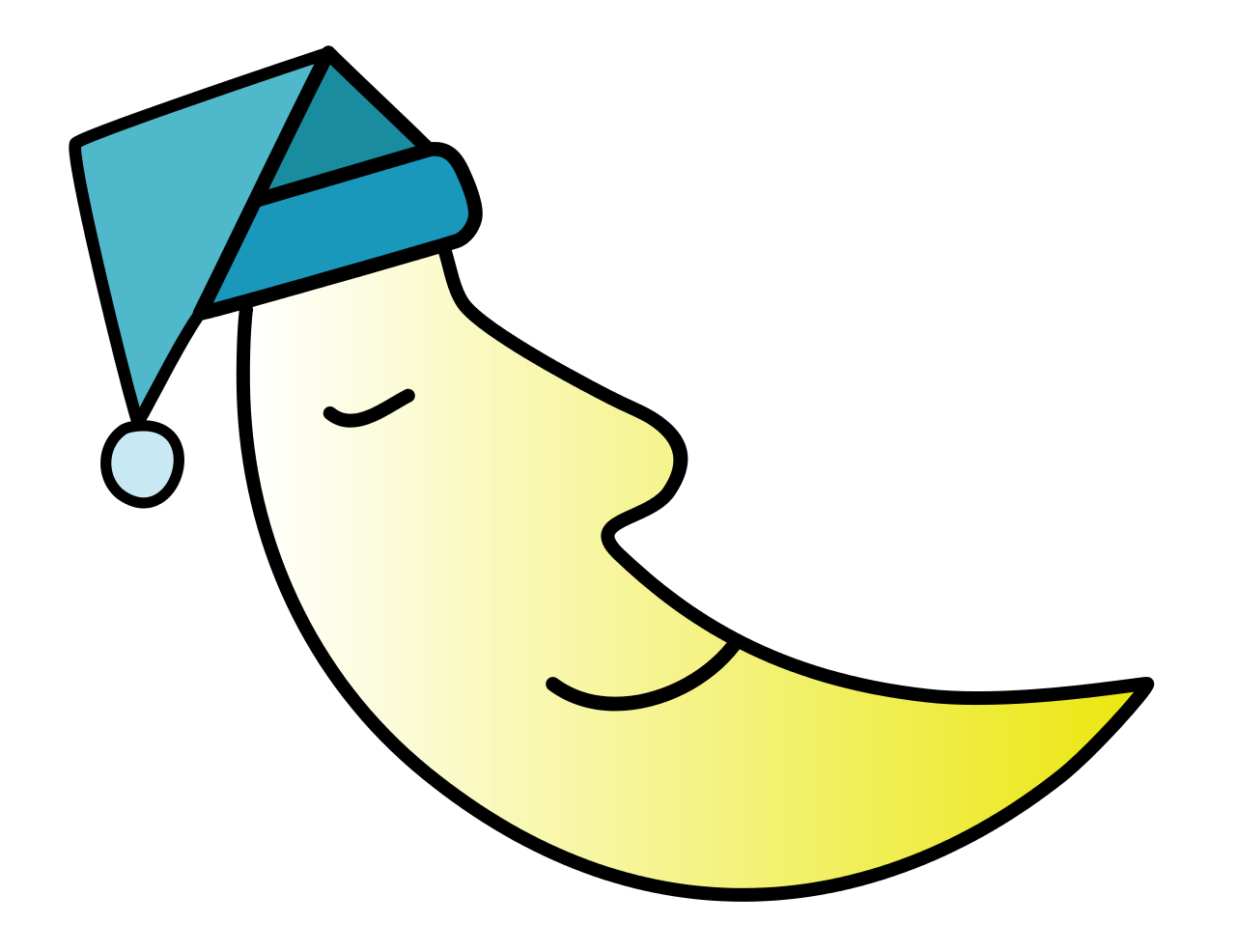 Clipart moon sleep.