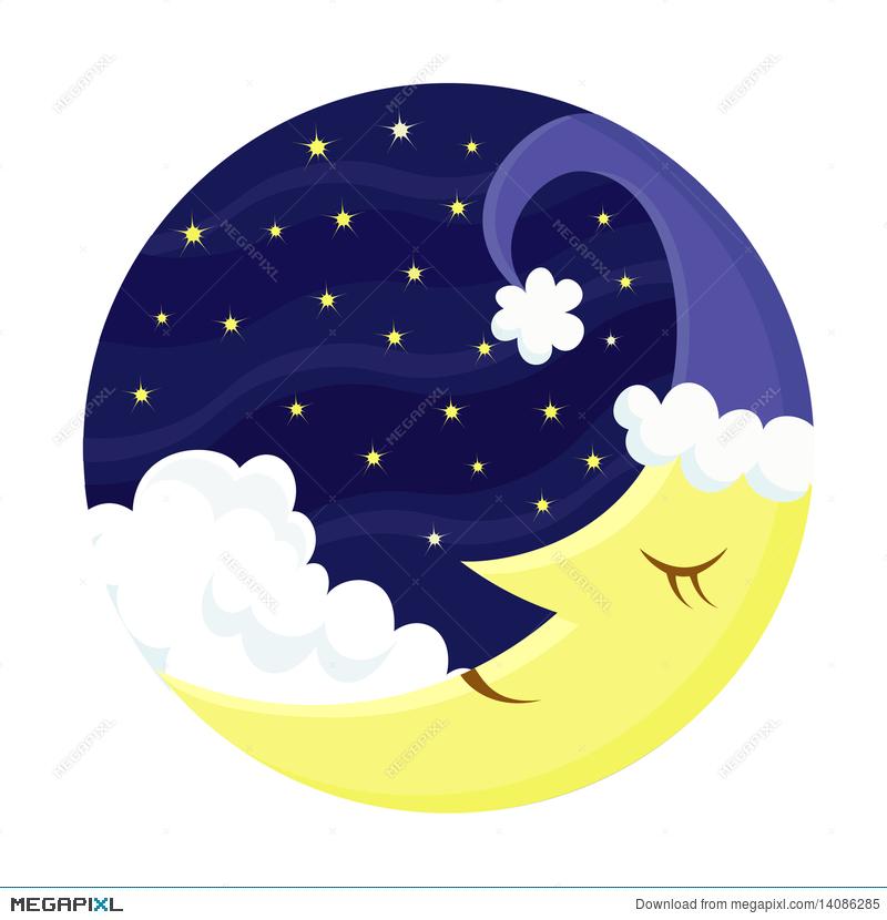 Cute sleeping moon.