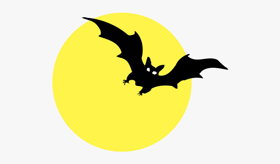 Moon with bats.