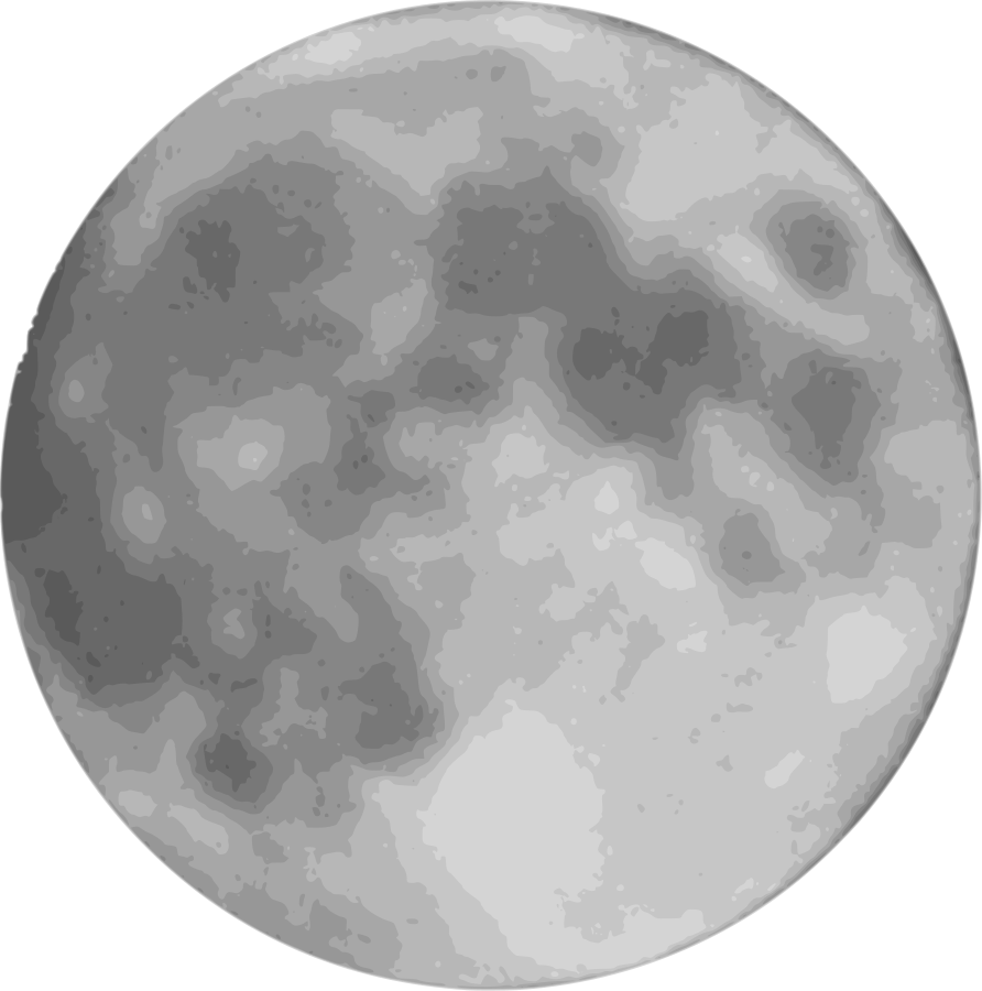 Spooky clipart moon.