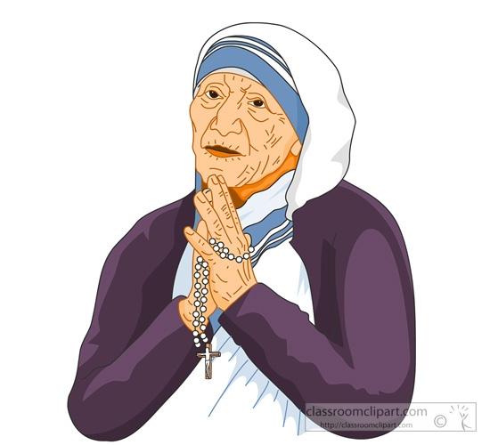 Mother teresa clipart