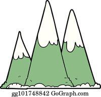 Cartoon mountains clip.