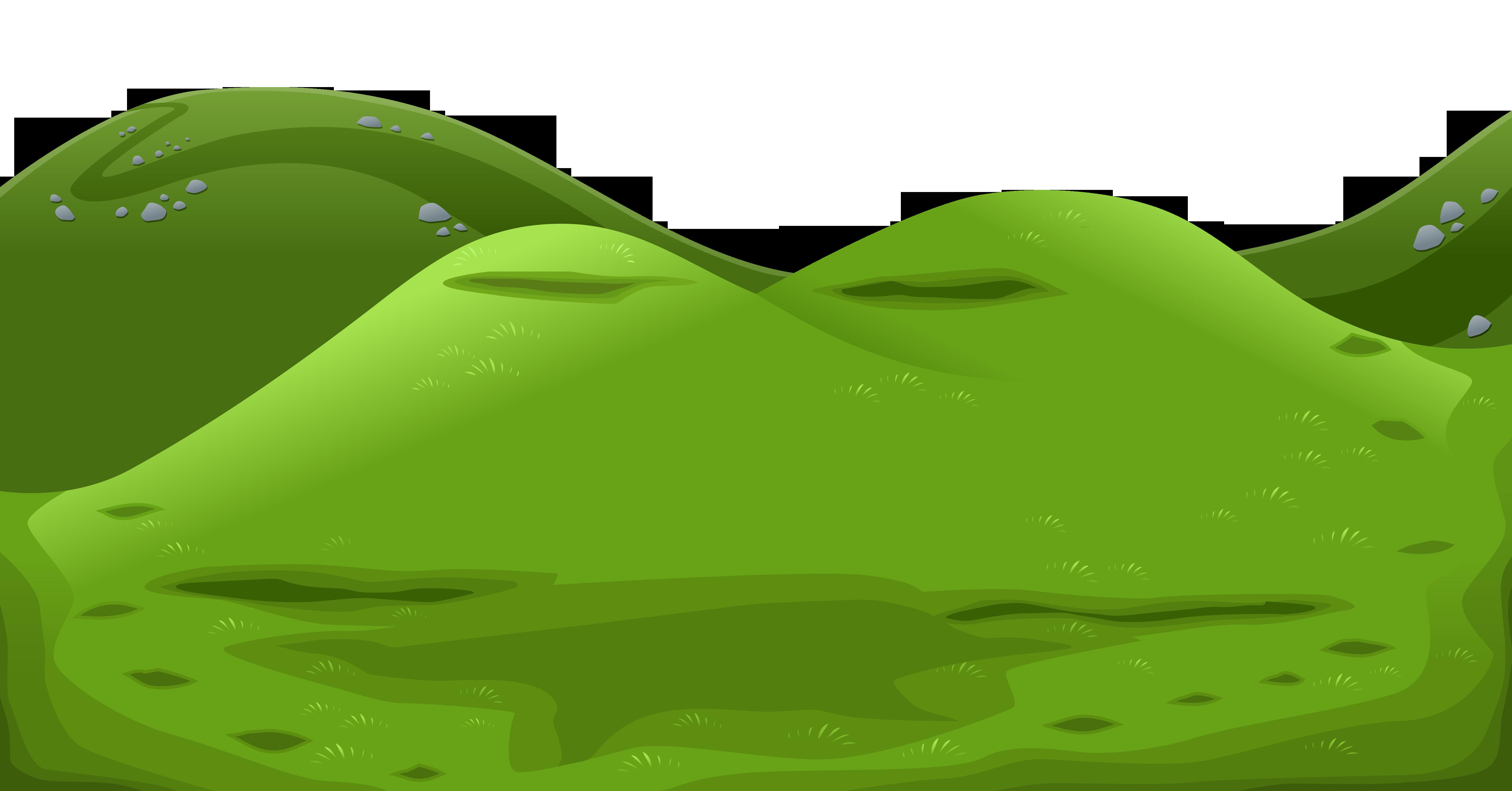 Green mountain ground.