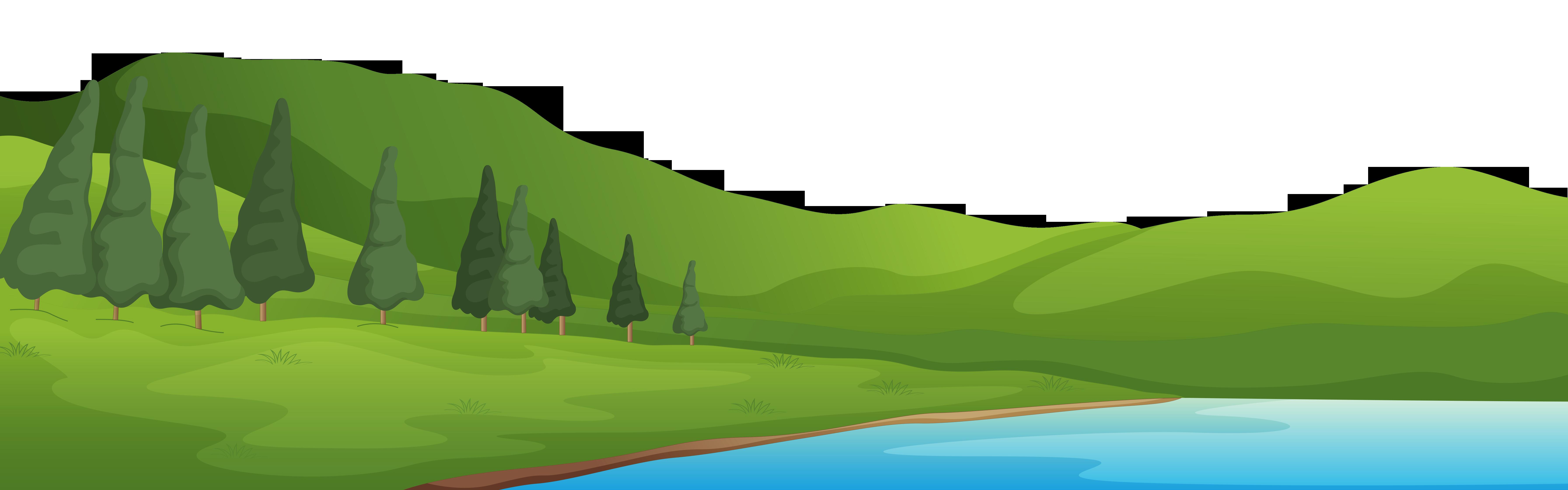 Mountain and lake.