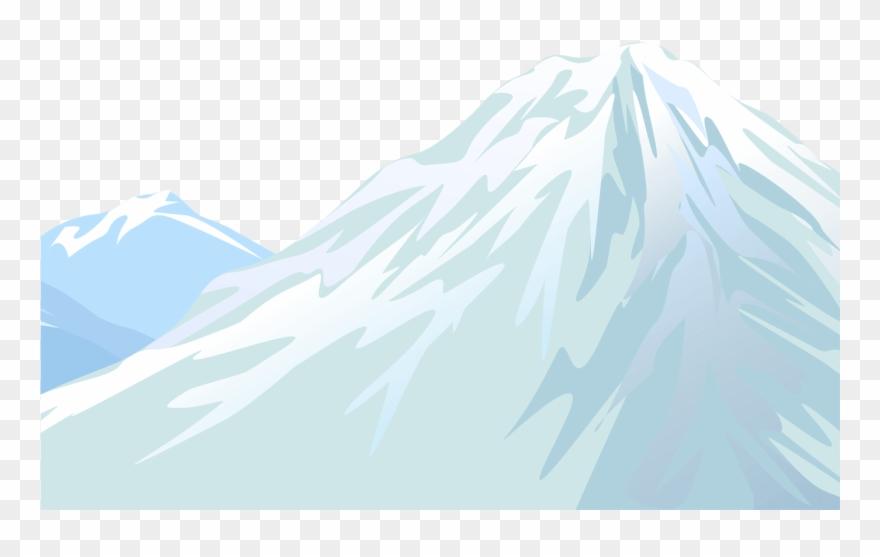 Winter snowy mountain.