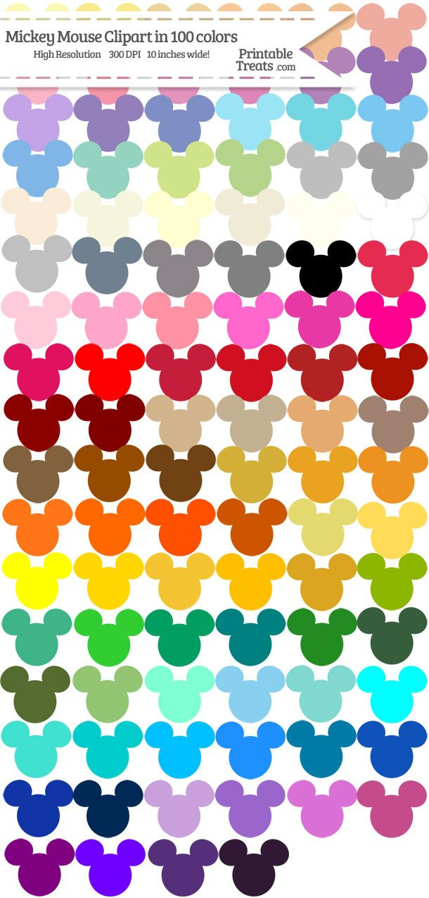 100 colors mickey.