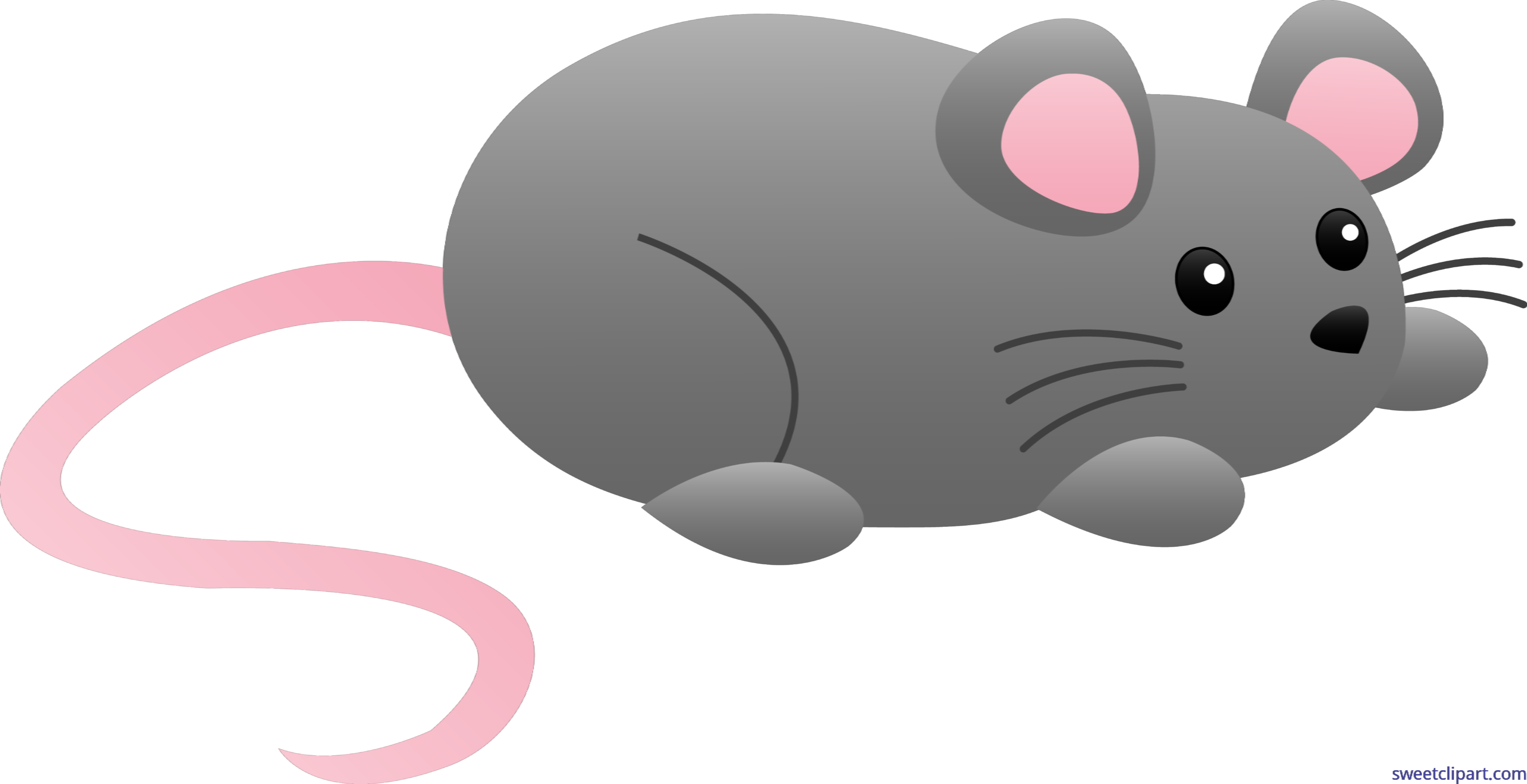 Cute grey mouse.