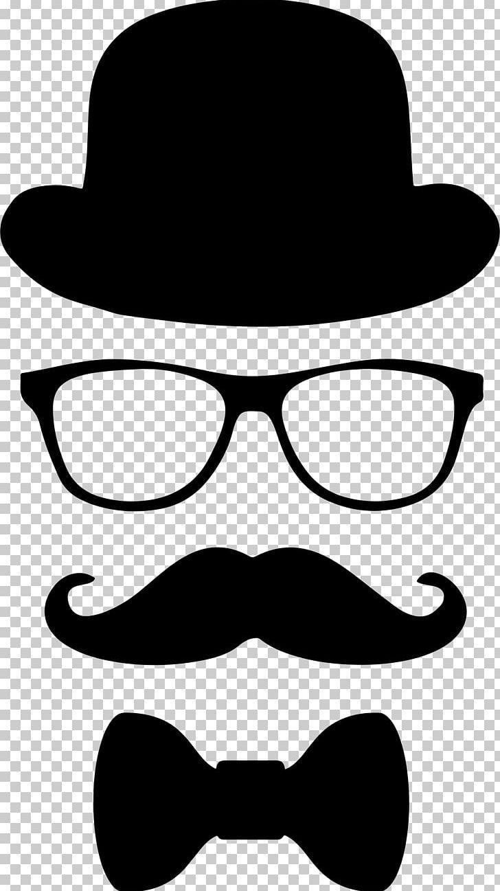 Moustache top hat.