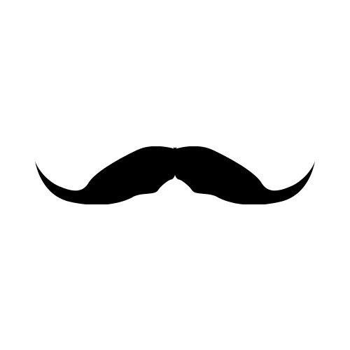 Mustache clip art.