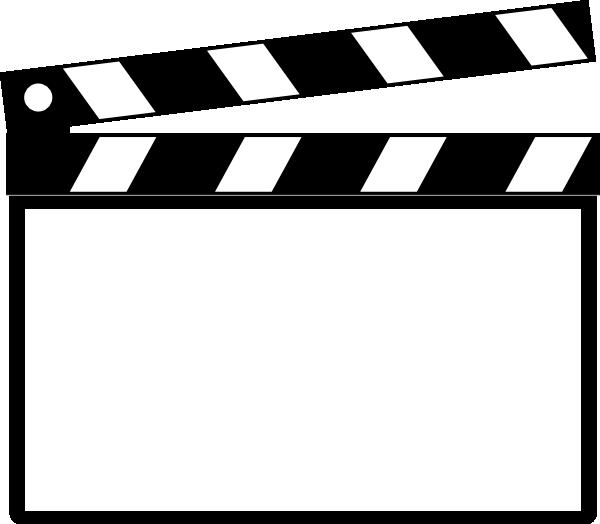 Clapperboard film director.