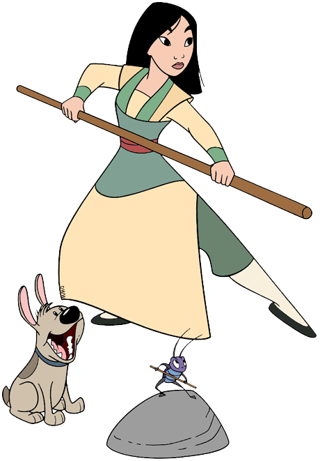 mulan clipart warrior
