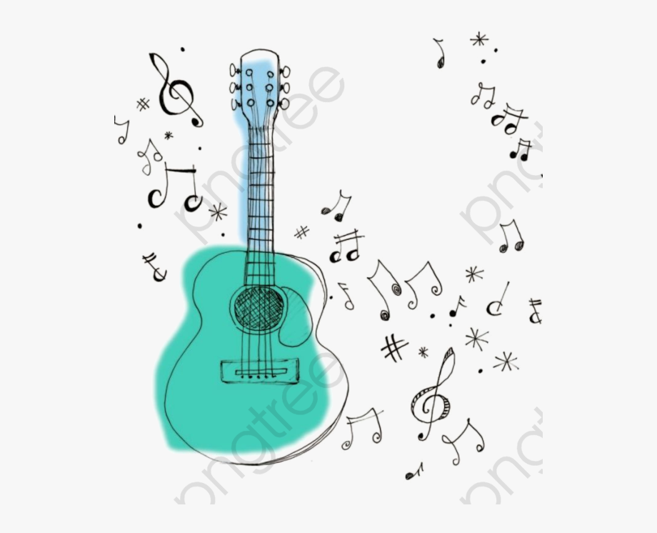 Music Notes Clipart Guitar
