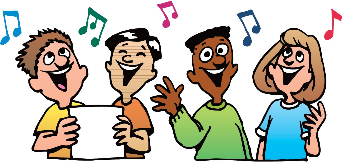 Free people singing.