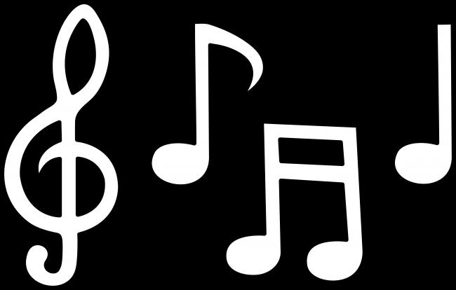 art clipart black and white music