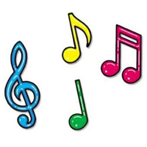 Colorful musical notes.