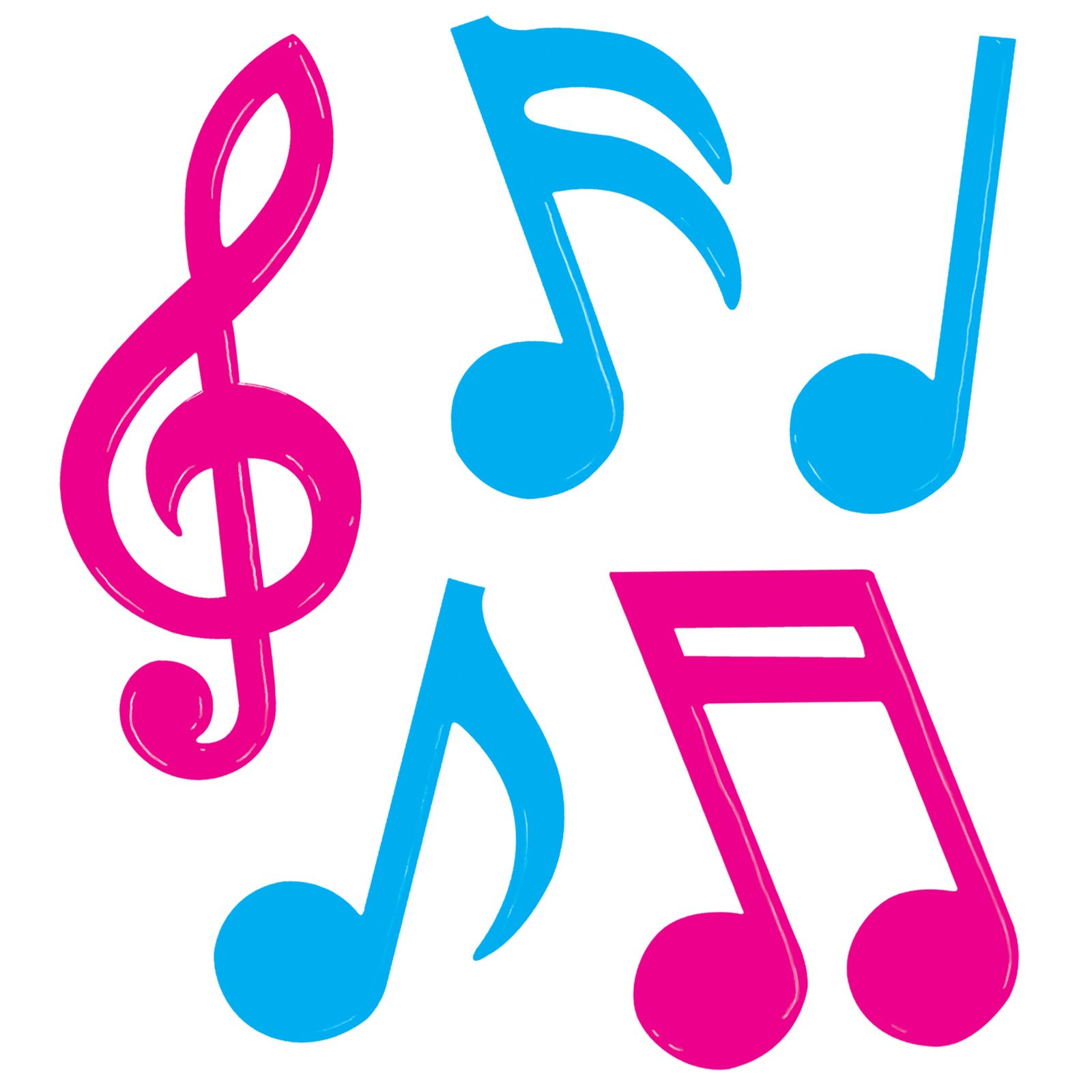 Colorful music note.