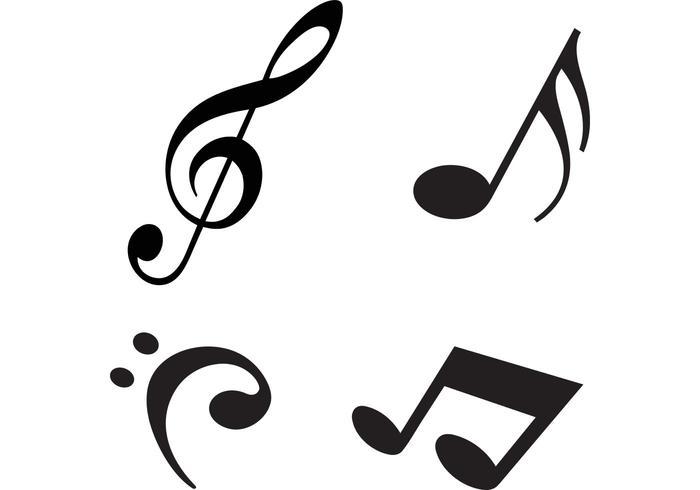 Modern Music Notes Vectors