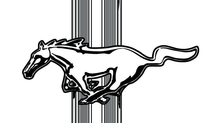 Funny mustang clipart.