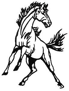 Mustang clipart black.