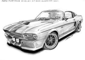 Ford mustang gt500.