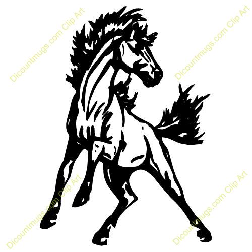 Mustang clip art.