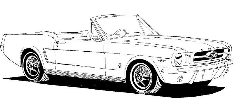1965 convertible clipart.