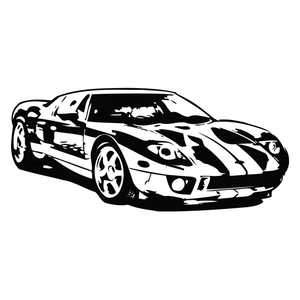 Mustang racing clipart.