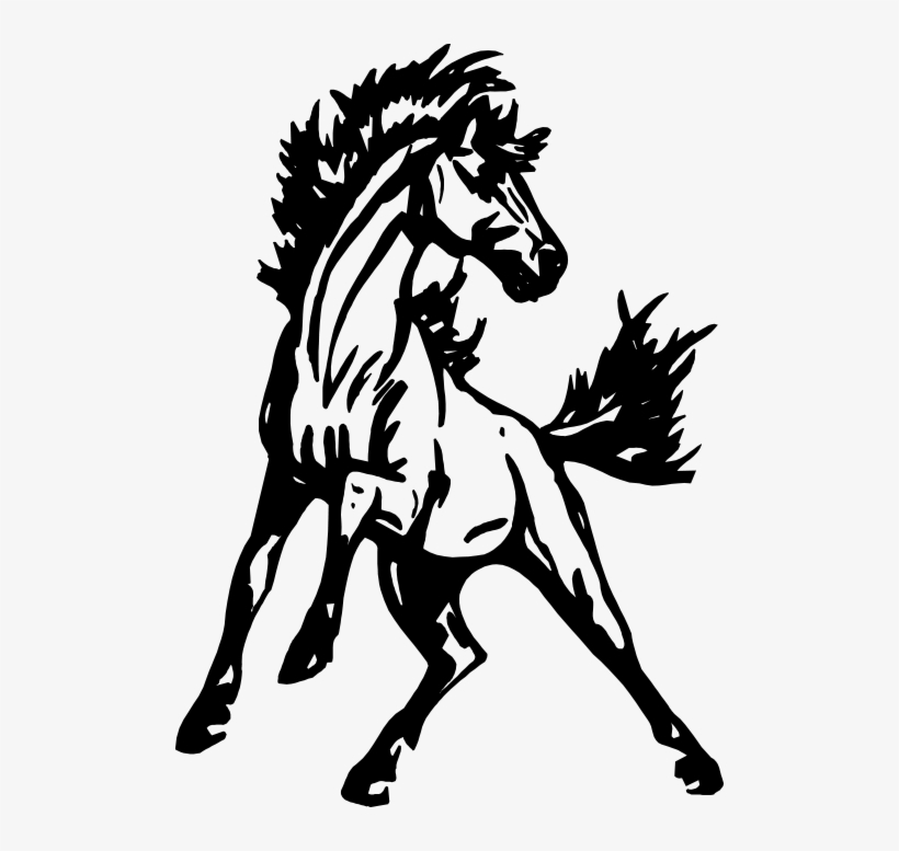 Mustang clipart face.