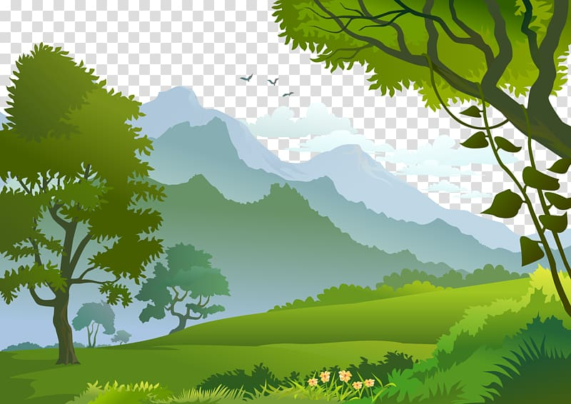 forest background clipart tree