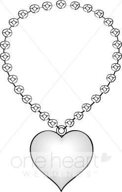 Heart shaped necklace.
